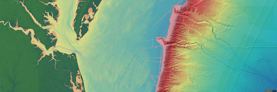 NCEI bathymetry strip